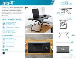 small standing desk laptop 30 varidesk stand up desk