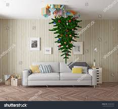 room tree on ceiling 3d stock illustration 347807603