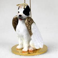 pitbull figurine white painted figurines