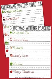 christmas writing practice sheets a mom u0027s take