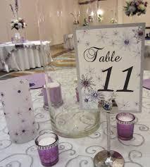 winter wonderland table numbers winter wonderland snowflake table numbers with rhinestones wedding