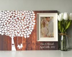 wedding photo album ideas wedding guest books etsy