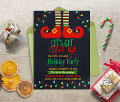 Funny Christmas Party - let u0027s get elfed up party invitation christmas party