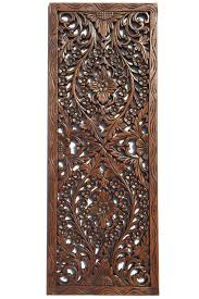 Breathtaking Large Wrought Iron Wall Decor Floral Wood Carved Wall Panel Wall Hanging Asian Home Decor