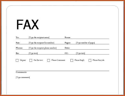 fax cover letter example sop example