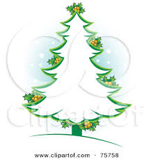 green christmas tree outline clipart 2059372