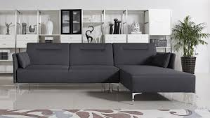 Grey Modern Sofa Bellino Grey Fabric Sectional Sofa With Convertible Bed Modern