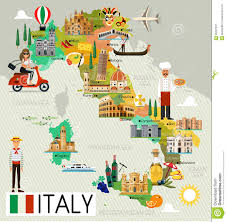 Map Of Genoa Italy by Italy Travel Map Stock Vector Image 95287957