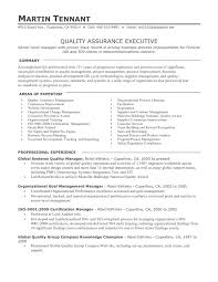 Quality Assurance Specialist Resume Sample Software Quality Assurance Resume Free Resume Example And