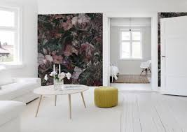 the beautiful wallpaper dark floral from mr perswall livingroom the beautiful wallpaper dark floral from mr perswall