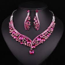 earring necklace sets wedding images Bridal jewellery sets fashion indian jewellery dubai crystal jpg
