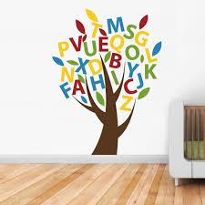 abc tree children s wall sticker vinyl impression abc tree wall sticker in by vinyl impression