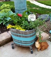garden color painting galvanized tubs flea market gardening