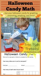 chicken babies halloween candy math with free printables