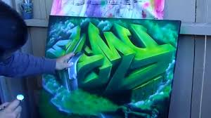 Mural Painting On Canvas by 3d Graffiti Painting On Canvas Speed Painting Iwata Eclipse Hp