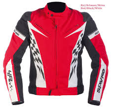 sport motorcycle jacket spyke sport top gt textile jackets white black red spyke
