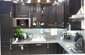 Kitchen Cabinets IKEAs Ramsjo Brown Black Kitchen Display At - Ikea black kitchen cabinets