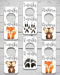 Woodland Animals Nursery Decor Printable Baby Closet Dividers Woodland Animal Nursery Decor