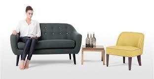 canapé ritchie ritchie un canapé 2 places avec boutons arc en ciel en gris