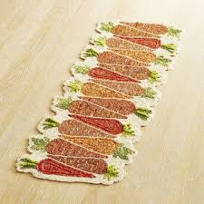 hand beaded table runners get your carrots in a row presenting a sweet easter table runner