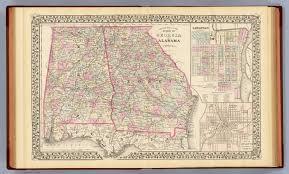 Atlanta Area Map Georgia Alabama David Rumsey Historical Map Collection