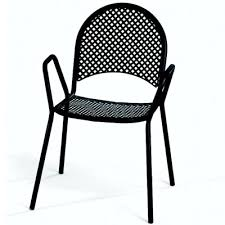 strikingly beautiful black metal outdoor chairs black patio