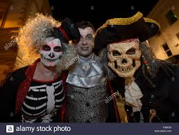 city halloween masks londonderry northern ireland 31st october 2015 people dressed