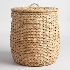 Designer Laundry Hampers by Natural Seagrass Leona Hamper Basket World Market