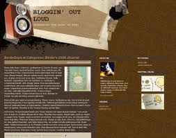 bloggin u0027 out loud free xml blogger template gisele jaquenod