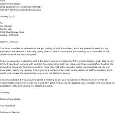sample of cover letter for accounting job docoments ojazlink