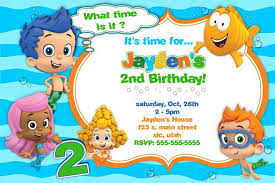 bubble guppies birthday party invitations dolanpedia invitations
