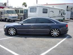 audi a8 2006 my 2006 a8 l grey armaretto lowering links 20 wheels tint