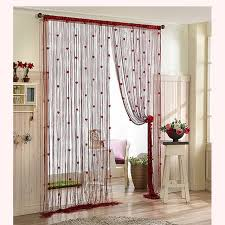 Decorative Curtains Decor Diy Curtain Floral String Flower Design Tassel
