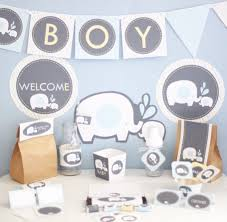 elephant baby shower decorations for boy home party theme ideas