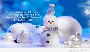 merry quote for friends awesome image with snowman 2015