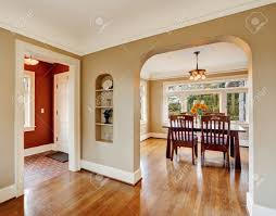 house interior with open floor plan view of dining area with