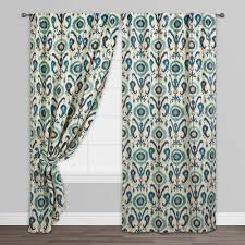 indigo ikat concealed tab top curtains set of 2 world market