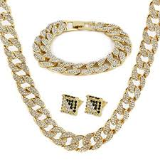 real gold chain necklace images Gold color tone brass fully cz iced out 15mm 30 quot hip jpg