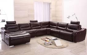 black leather reclining sectional u2014 jen u0026 joes design how a