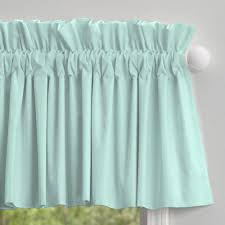 Linen Valance Solid Seafoam Aqua Window Valance Rod Pocket Carousel Designs