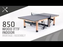 rec tek ping pong table montage table de ping pong cornilleau 850 wood ittf youtube