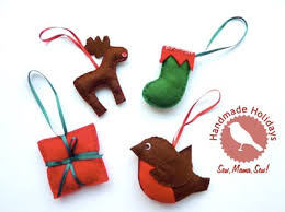 handmade holidays stitched ornaments sew sew