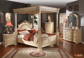 King Size Canopy Bed Sets Antique White Bedroom Sets King Decoraci On Interior