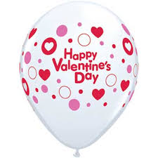 valentines ballons valentines dots and hearts balloons 1 count 11 inch boswell s