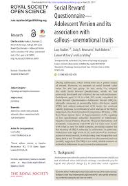 association si e social social reward questionnaire srq development and validation pdf