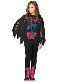 skeleton girls poncho costume girls costumes kids halloween