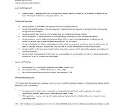 Emt Resume Examples by Emt Resume Resume Characterworld Co
