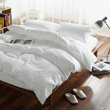 Where To Get Bedding Sets Solid Washed Cotton Minimalist Style Duvet Cover