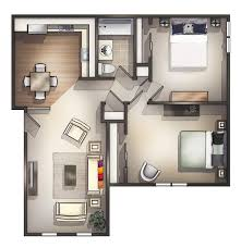 amazing two bedroom apartments related to house design plan with 2