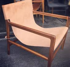 Outdoor Sling Chairs Loft Leather Sling Chair Tan Loft Furniture
